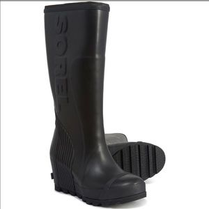 Sorel Joan tall wedge rain boot- BRAND NEW!